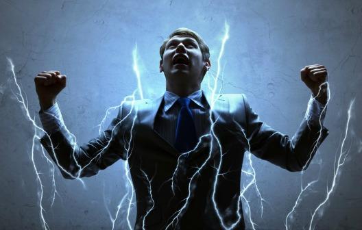 lightning striking you